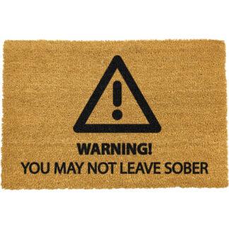 Sober Warning Doormat