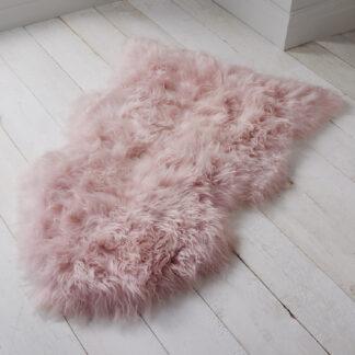 Blush Pink Sheepskin Rug XXL