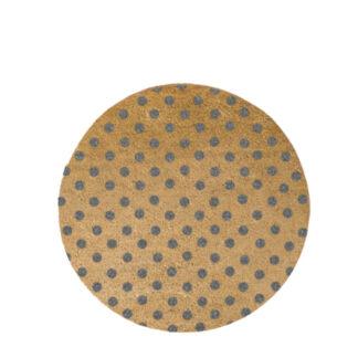 Grey Dots Circle Doormat