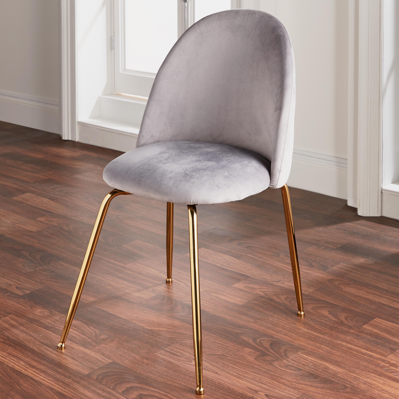 Velvet Dining Chair Gold Legs Set Of 2 Inner Home Free Delivery