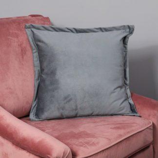 Snakeskin Textured Grey Velvet Cushion Cover