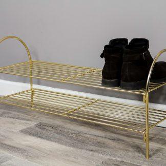 gold shoe rack
