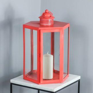 Indoor Living Coral Lantern