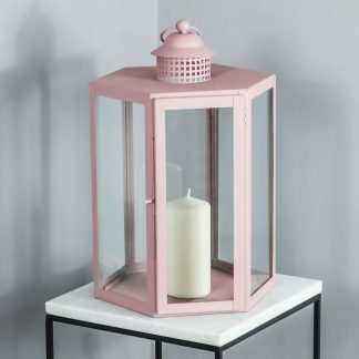 Indoor Outdoor Pale Pink Lantern