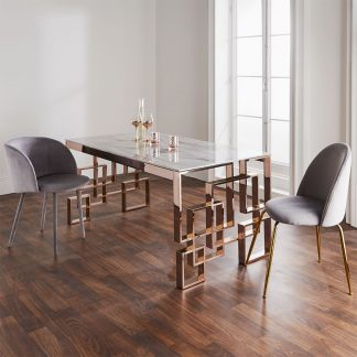 Rose Gold Dining Table UK