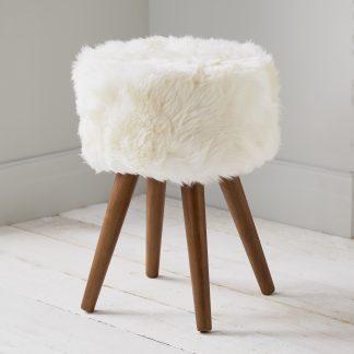 Natural Sheepskin Stool