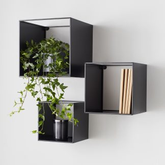Black Box Metal Shelves (set of 3)