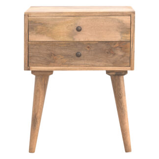 Scandinavian 2 Drawer Bedside Table