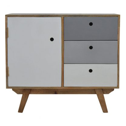 Two Tone Hand Painted Cabinet