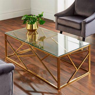 Geometric Gold Coffee Table