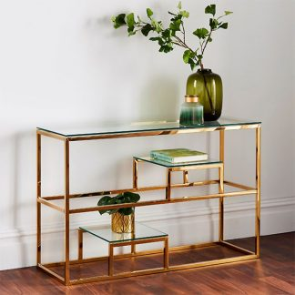 Gold Tier Console Table