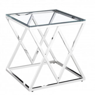 Pyramid Silver Side Table