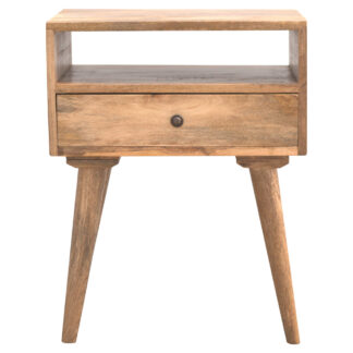 Nordic Designed Bedside Table with 1 Drawer & Open Slot