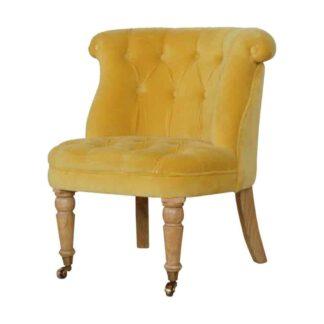 Mustard Velvet Accent Chair