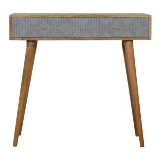 Geometric Carved Console Table