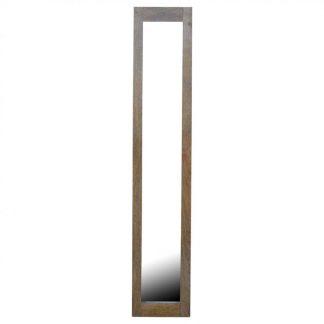 Rectangular Wooden Frame with Mirror