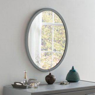 Classic Oval Dark Grey Mirror