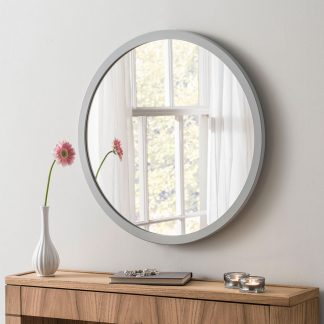 Classic Round Light Grey Mirror