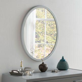 Classic Oval Light Grey Mirror