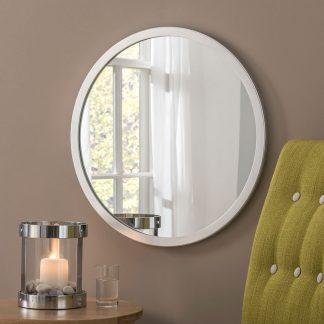 Classic Circle Silver Leaf Mirror