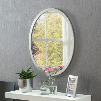 Classic Oval Silver Mirror