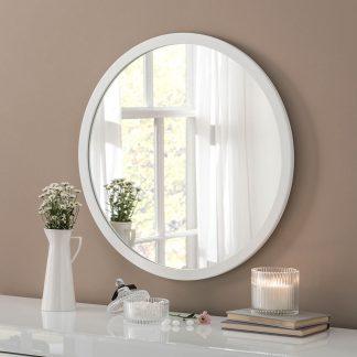 Classic Circle White Mirror