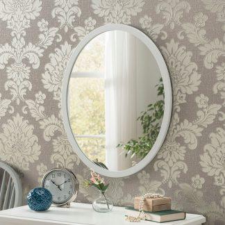 Classic Oval White Mirror