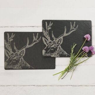 2 Stag Place Mats