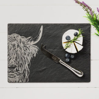 Just Slate Highland Cow Cheese Board