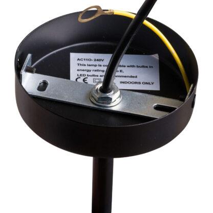 black and brass industrial five bulb bar lights