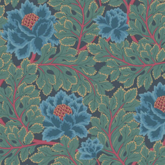 Cole and Son Aurora 116-1003 Petrol & Teal on Ink Wallpaper