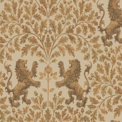 Cole and Son Boscobel Oak 116/10037 Metallic Gold on Oat Wallpaper