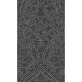 Cole and Son Pugin Palace Flock 116/9035 Charcoal Wallpaper