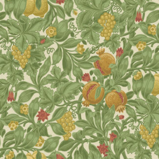 Cole and Son Vines of Pomona 116/2007 Ochre & Olive Green on Cream Wallpaper