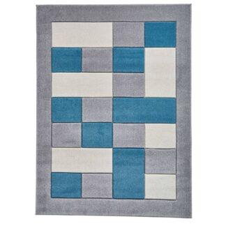 Matrix MT04 Grey/Blue Rug