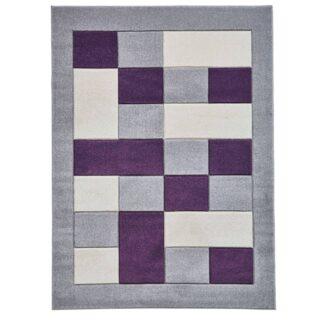 Matrix MT04 Grey/Purple Rug
