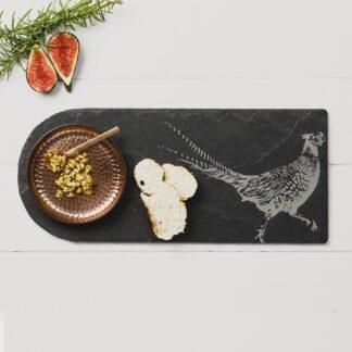 Pheasant & Copper Serving Platter