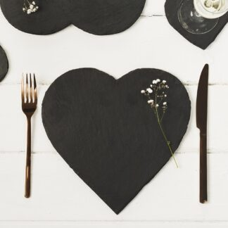 2 Slate Heart Placemats