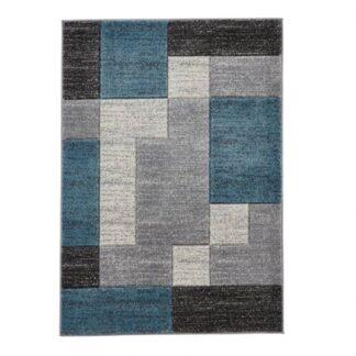 Matrix A0221 Grey/Blue Rug