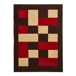 Matrix MT04 Brown/Red Rug