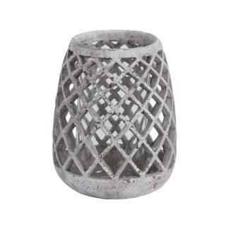 Large Conical Ceramic Lattice Hurricane Lantern