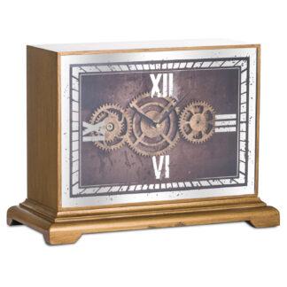 Mirrored Moving Mechanism Mantel Clock