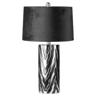 Jaspa Table Lamp With Black Velvet Shade