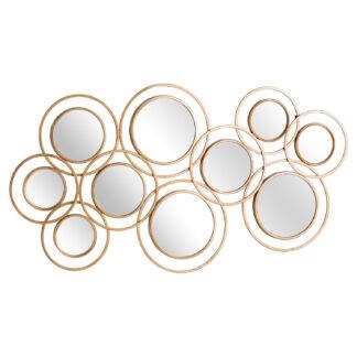 Abstract Gold Circular Wall Mirror