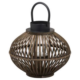 Brown Bamboo Style Lantern