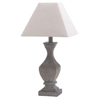 Incia Fluted Wooden Table Lamp