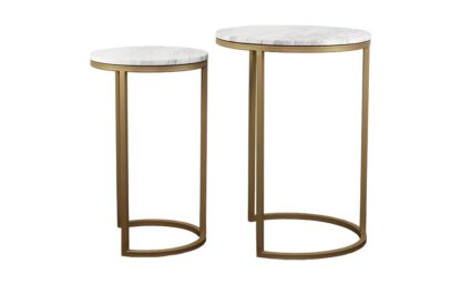 Gold Marble Side Tables