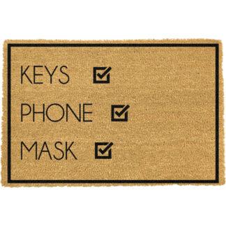 Keys, Phone, Face Mask Doormat