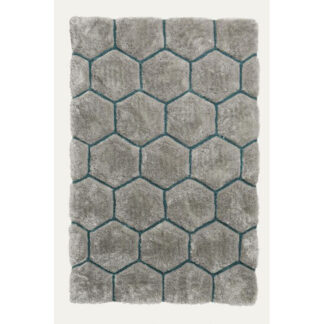 Noble House NH30782 Grey/Blue Rug