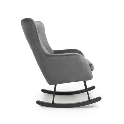 Alpine Brushed Velvet Grey Rocking Chair